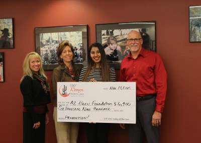 Arizona Burn Foundation Check Presentation