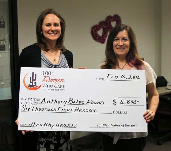 Anthony Bates Foundation Check Presentation