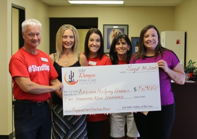 Arizona Helping Hands Check Presentation