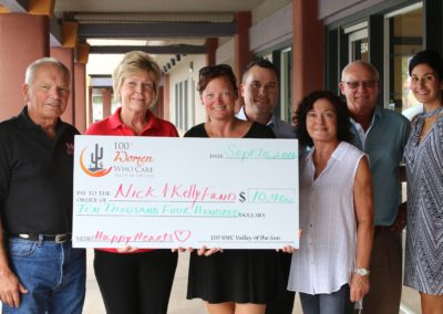 Nick & Kelly Children's Heart Fund Check Presentation